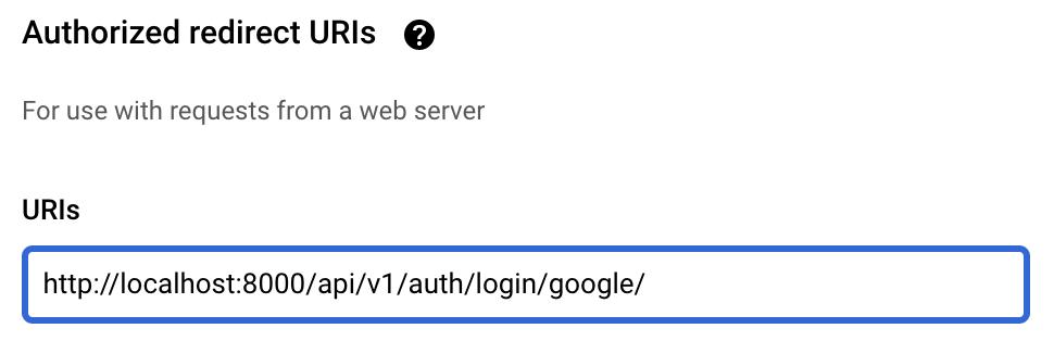 Google OAuth2 application setup